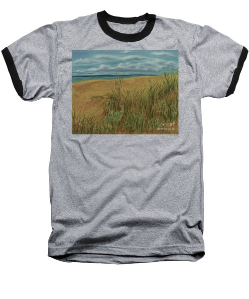 Beach And Clouds Baseball T-Shirt