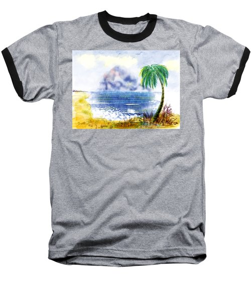Beach And Palm Tree Of D.r.  Baseball T-Shirt