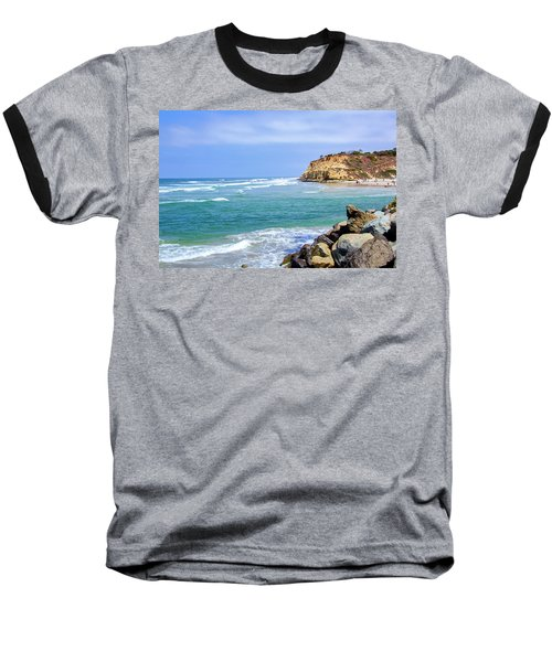 Beach At Del Mar, California Baseball T-Shirt