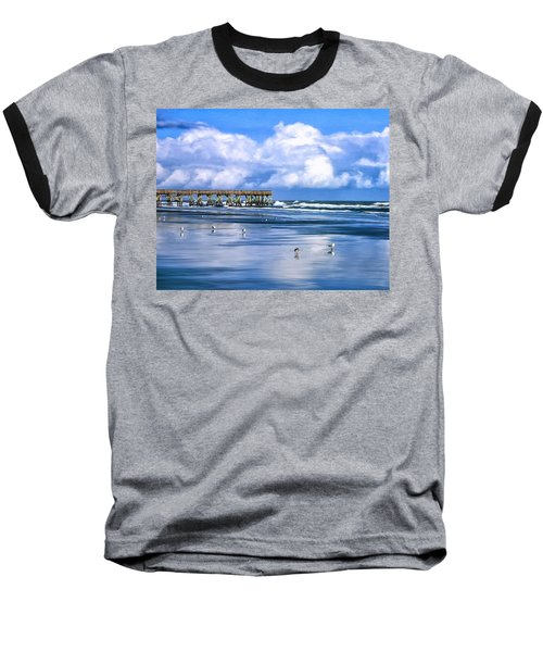 Beach At Isle Of Palms Baseball T-Shirt by Dominic Piperata