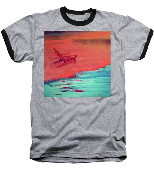 Beach At Night Baseball T-Shirt