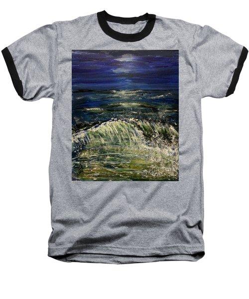 Beach At Night Baseball T-Shirt