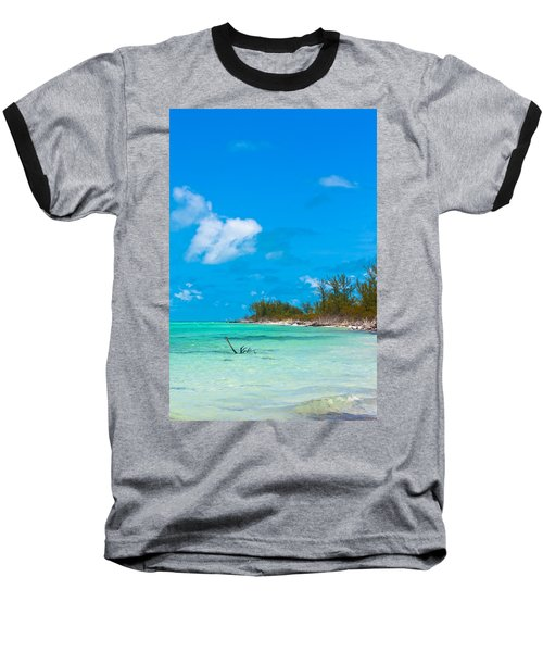 Beach At North Bimini Baseball T-Shirt