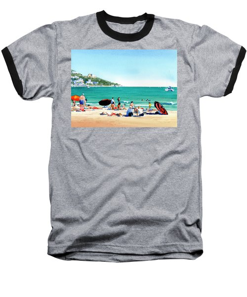 Beach At Roses, Spain Baseball T-Shirt