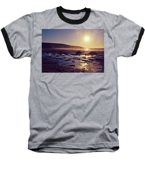 Baseball T-Shirt featuring the photograph Beach At Sunset by Lyn Randle