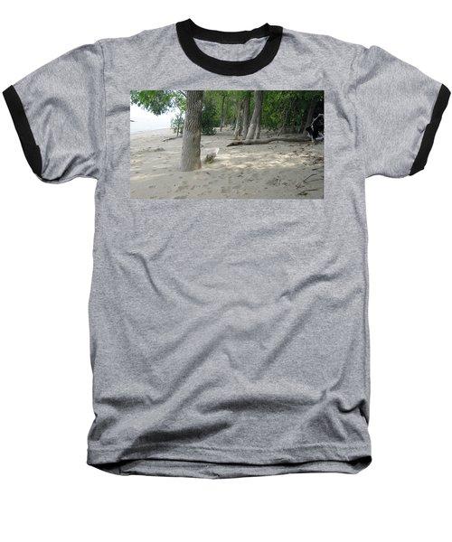 Beach At The Lake Baseball T-Shirt