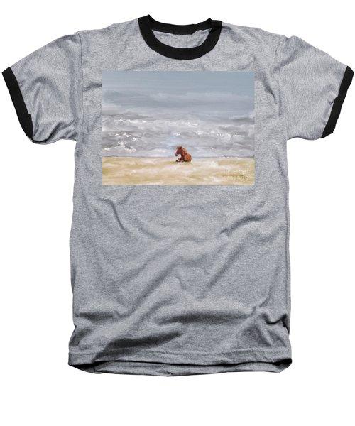 Baseball T-Shirt featuring the photograph Beach Baby by Lois Bryan