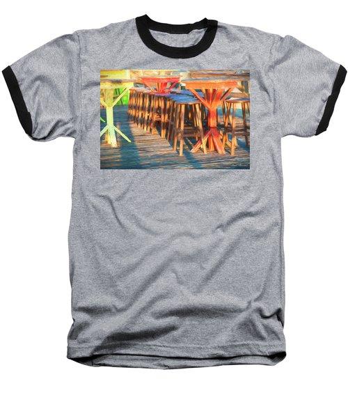 Beach Bar Morning Baseball T-Shirt by Glenn Gemmell
