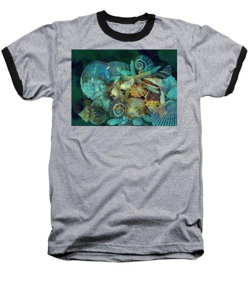Baseball T-Shirt featuring the mixed media Beach Beauty 10  by Lynda Lehmann