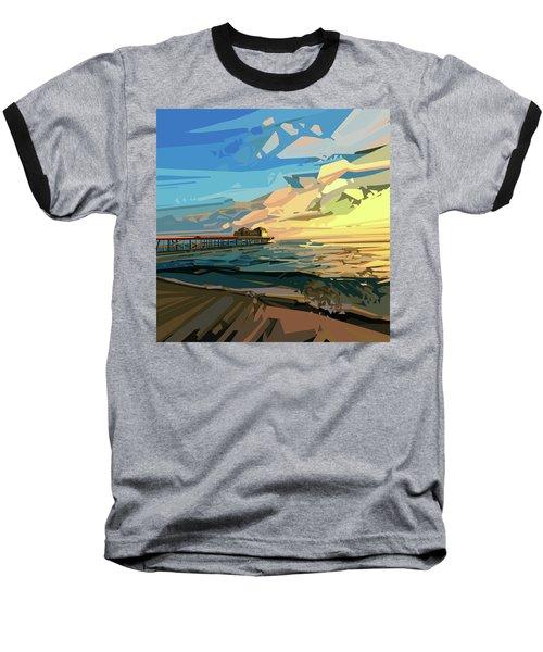 Beach Baseball T-Shirt by Bekim Art