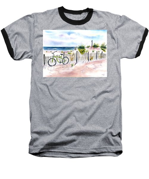 Beach Bike At Seaside Baseball T-Shirt