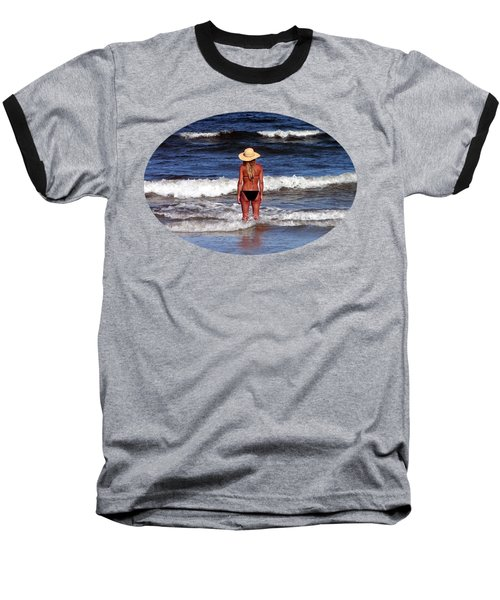 Baseball T-Shirt featuring the photograph Beach Blonde .png by Al Powell Photography USA