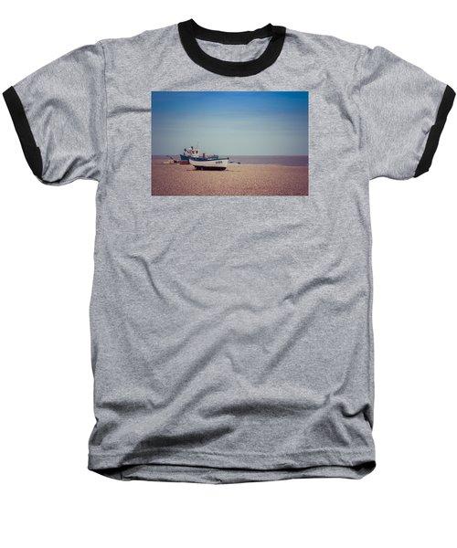 Beach Boats Baseball T-Shirt by David Warrington