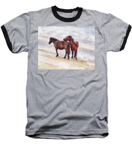 Baseball T-Shirt featuring the photograph Beach Buddies by Lois Bryan