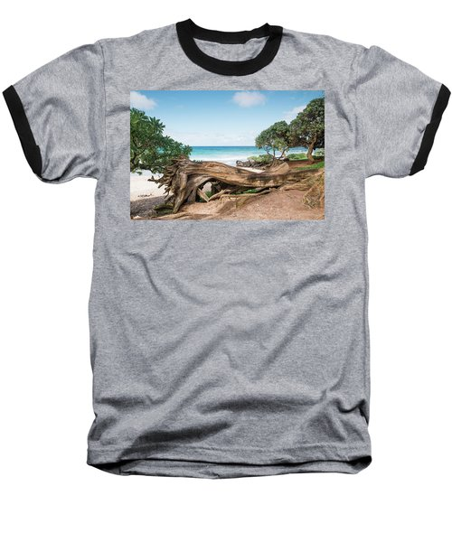 Beach Camping Baseball T-Shirt