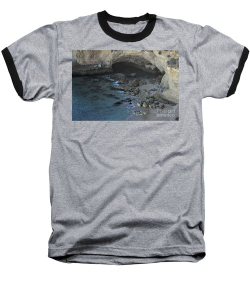 Beach Cave From The Cliffs In Malhada Do Baraco Baseball T-Shirt by Angelo DeVal