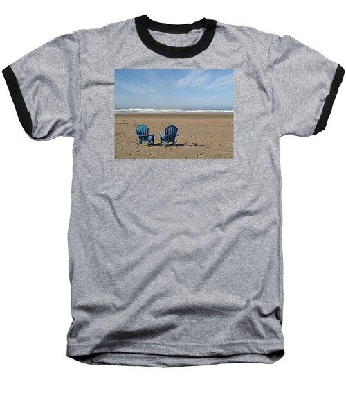 Baseball T-Shirt featuring the photograph Beach Chair Pair by Suzy Piatt
