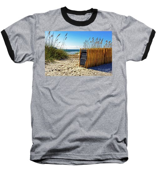Beach Chairs Baseball T-Shirt by Paul Mashburn