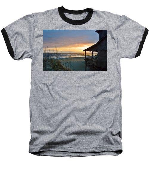 Beach Cottage Sunrise  Baseball T-Shirt