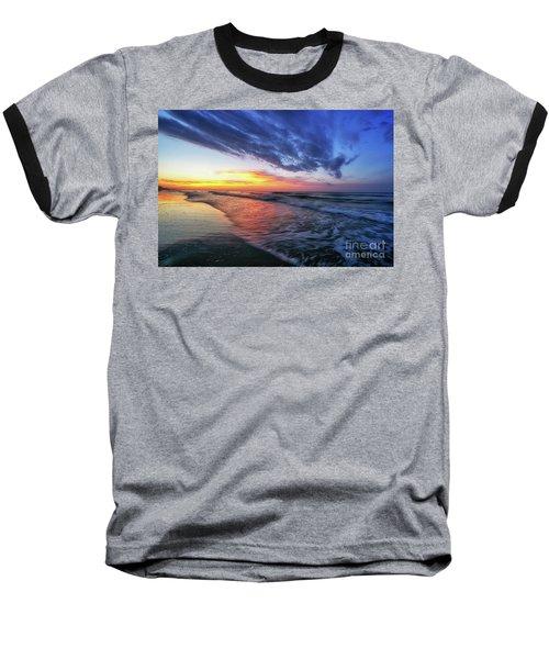 Beach Cove Sunrise Baseball T-Shirt