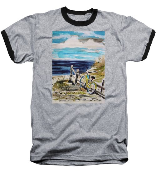 Beach Cruiser Baseball T-Shirt by John Williams