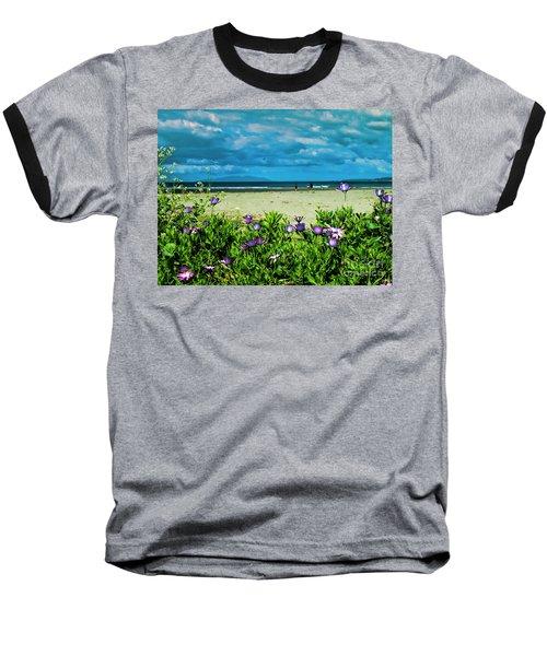 Beach Daisies Baseball T-Shirt by Karen Lewis