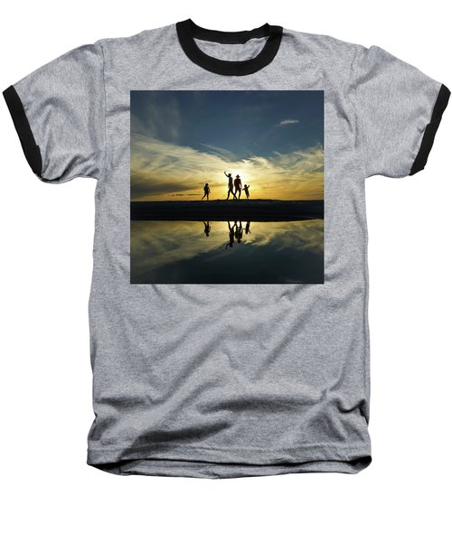 Beach Dancing At Sunset Baseball T-Shirt