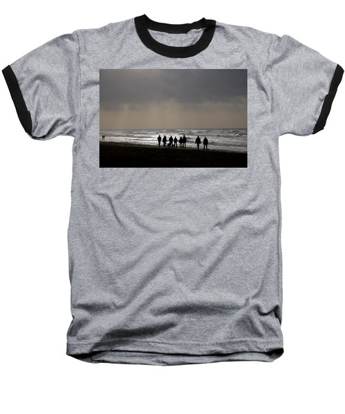 Beach Day Silhouette Baseball T-Shirt