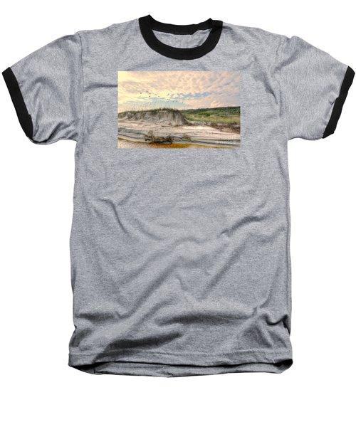 Beach Dunes And Gulls Baseball T-Shirt by Kathy Baccari
