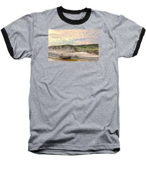 Beach Dunes And Gulls Baseball T-Shirt