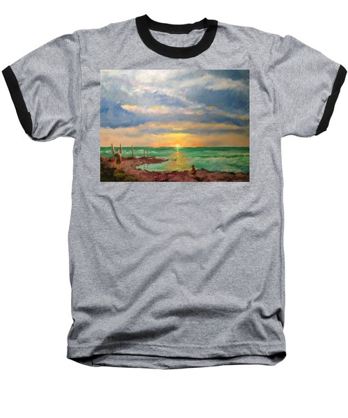 Beach End Of Day Baseball T-Shirt