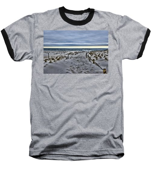 Beach Entry Baseball T-Shirt by Paul Ward