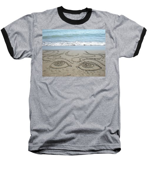 Baseball T-Shirt featuring the photograph Beach Eyes by Kim Prowse