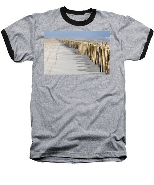 Beach Fence Shirley New York Baseball T-Shirt by Bob Savage