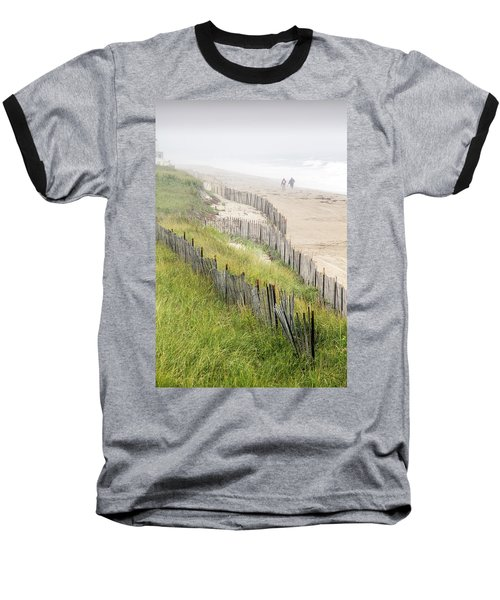 Beach Fences In A Storm Baseball T-Shirt by Betty Denise