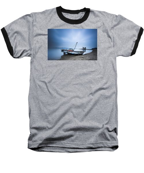 Beach Fishing Boat Baseball T-Shirt