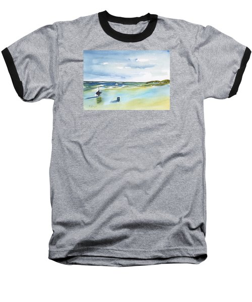 Beach Fishing Baseball T-Shirt