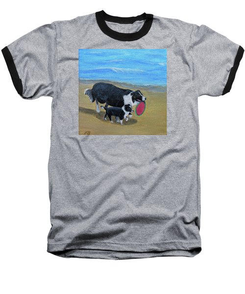 Beach Frisbee Baseball T-Shirt