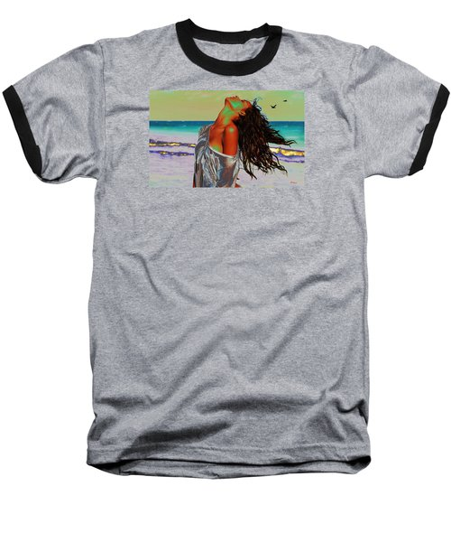 Beach Girl 1 Baseball T-Shirt