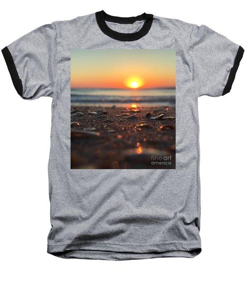 Beach Glow Baseball T-Shirt by LeeAnn Kendall