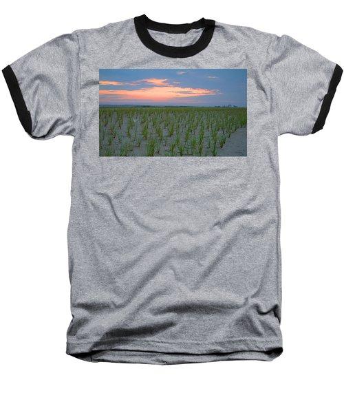 Baseball T-Shirt featuring the photograph Beach Grass Farm by  Newwwman
