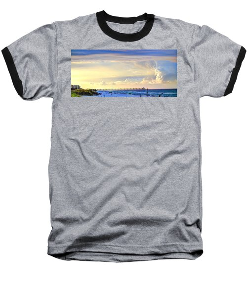 Beach House Window Baseball T-Shirt