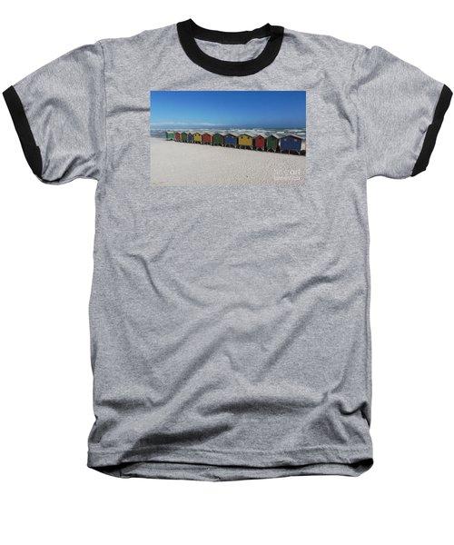 Beach Houses Baseball T-Shirt by Bev Conover