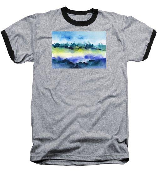 Beach Hut Abstract Baseball T-Shirt by Frank Bright