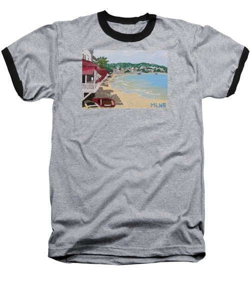 Beach In Grand Case Baseball T-Shirt by Margaret Brooks