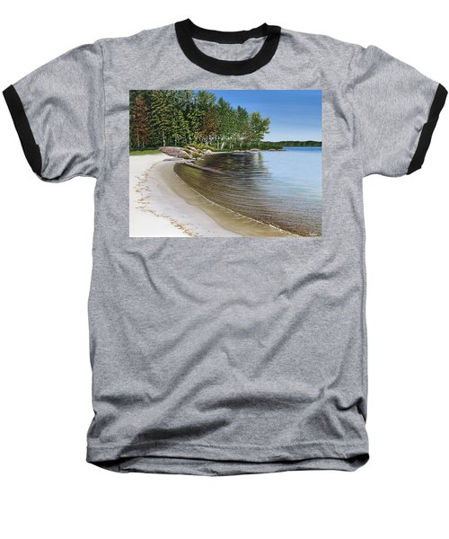 Beach In Muskoka Baseball T-Shirt