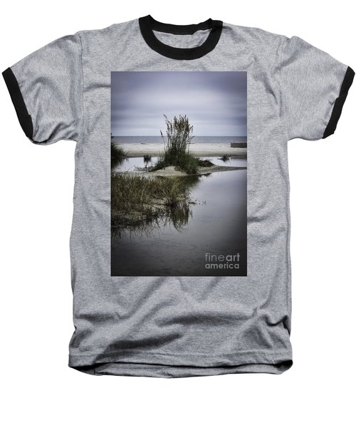 Baseball T-Shirt featuring the photograph Beach Island by Judy Wolinsky