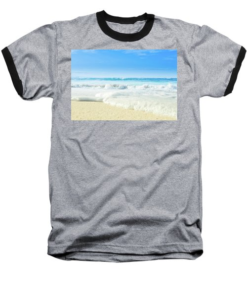 Baseball T-Shirt featuring the photograph Beach Love Summer Sanctuary by Sharon Mau