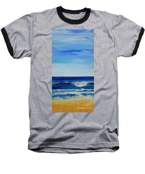 Beach Ocean Sky Baseball T-Shirt