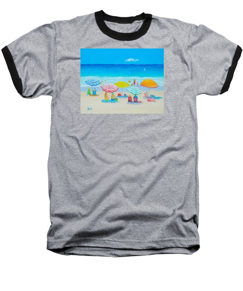 Beach Painting - Catching The Breeze Baseball T-Shirt by Jan Matson